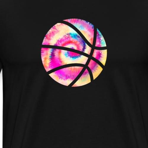 Basketball Rainbow Tie Dye - Men's Premium T-Shirt