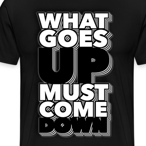 what goes up must come down - Männer Premium T-Shirt