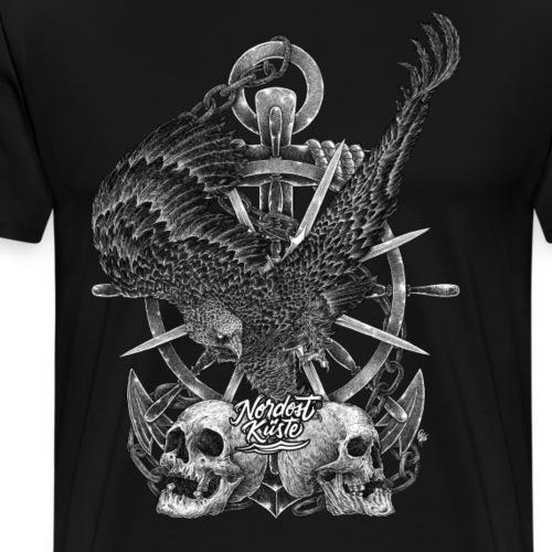 Seeadler mit Totenköpfen - Männer Premium T-Shirt
