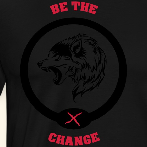 BE THE CHANGE - Camiseta premium hombre