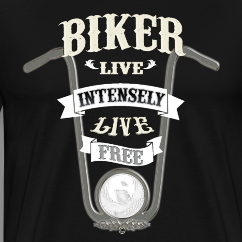 Biker live Free - Camiseta premium hombre