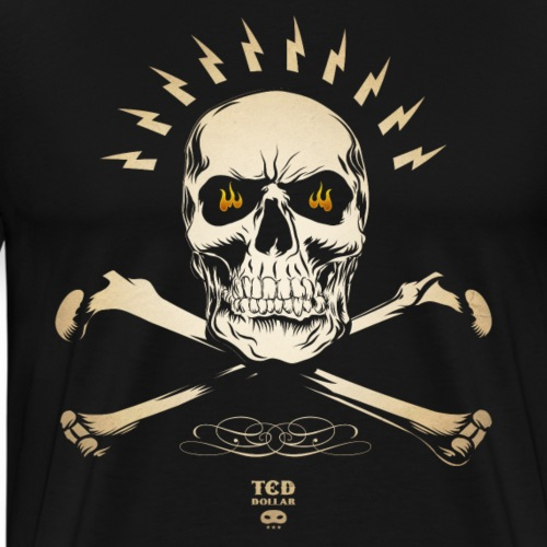 vintage Ted's Skull - T-shirt Premium Homme