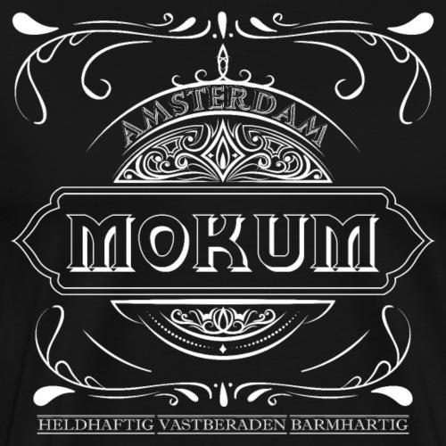 mokum vintage white - Mannen Premium T-shirt