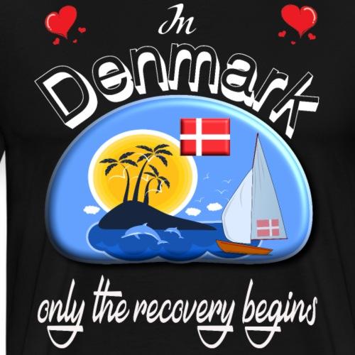 Urlaub, Dänemark, Ferien, dänisch lernen, Nordsee - Männer Premium T-Shirt