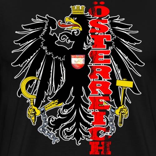 Österreich Wappen Adler Geschenk Heimat - Männer Premium T-Shirt