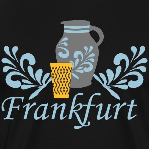 Frankfurt Bembel Geripptes - Männer Premium T-Shirt