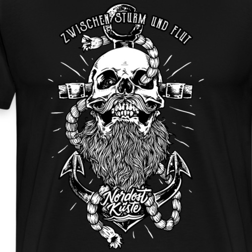 Totenkopf Anker - Männer Premium T-Shirt