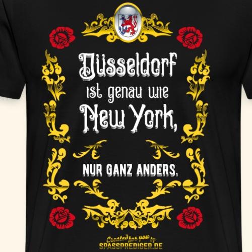 Düsseldorf T Shirt Düsseldorf ist wie New York - Männer Premium T-Shirt