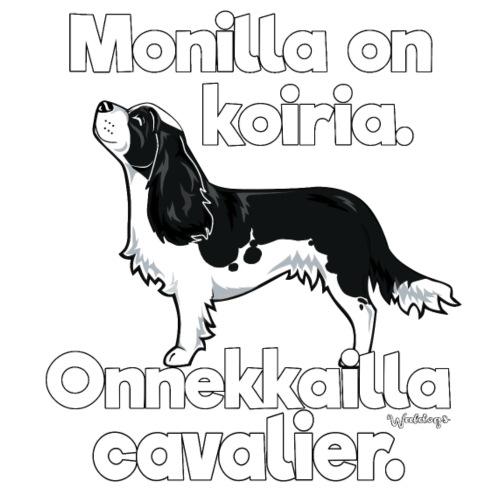 Cavalier Onnekas 2 - Miesten premium t-paita
