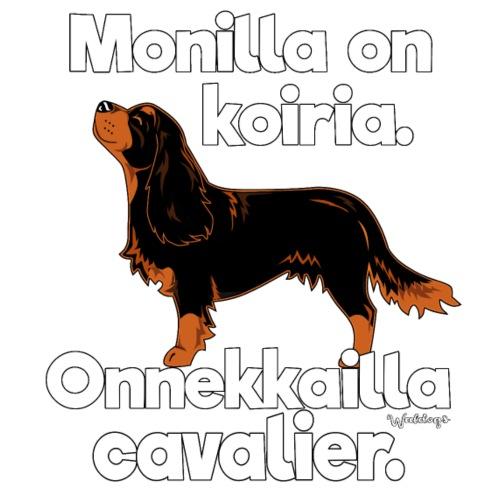 Cavalier Onnekas - Miesten premium t-paita