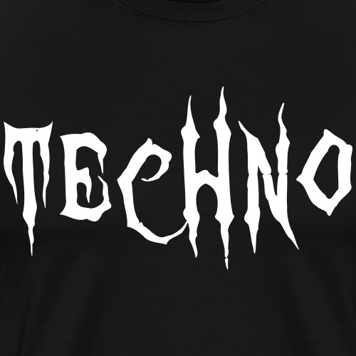 Techno Schriftzug Horror Böse Harder Styles - Männer Premium T-Shirt