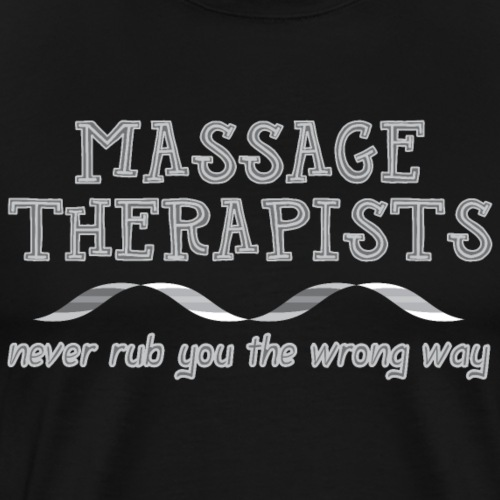 Massage Therapists Ribbon Light - Men's Premium T-Shirt
