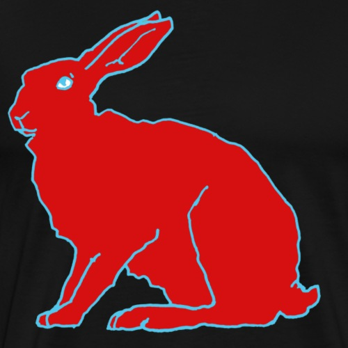 Roter Hase - Männer Premium T-Shirt