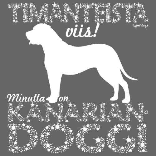 Kanariandoggi Timantti - Miesten premium t-paita