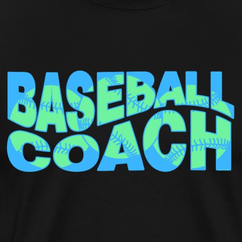 Blue Wavy Baseball Coach