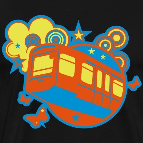 Wuppertal T Shirt Design Schwebebahn - Männer Premium T-Shirt
