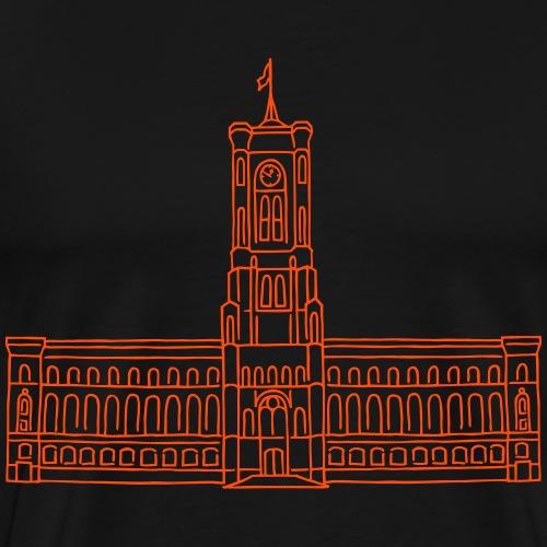 Il Municipio Rosso di Berlino - Maglietta Premium da uomo