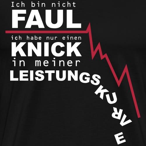 Leistungskurve - Männer Premium T-Shirt