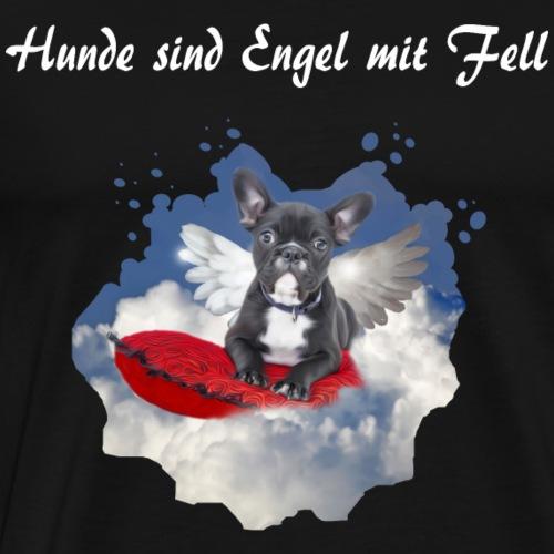 HUNDE SIND ENGEL MIT FELL - Männer Premium T-Shirt
