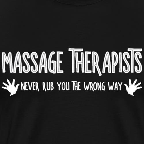 Massage Therapists Hands Rub White - Men's Premium T-Shirt
