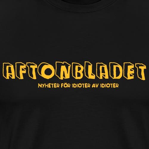 Aftonbladet för idioter - Premium-T-shirt herr