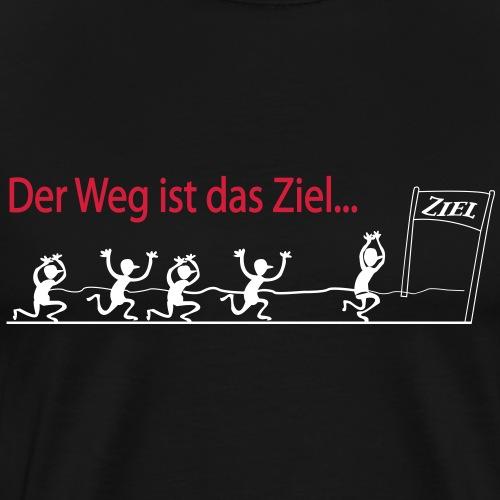 Der Weg ist das Ziel - Marathon - Männer Premium T-Shirt