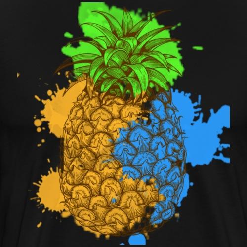 Abstract Pineapple Splash - Männer Premium T-Shirt