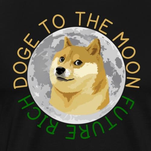 DOGE TO THE MOON - Men's Premium T-Shirt