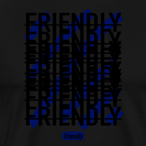 FRIENDLY SQUARE LOGO - Men's Premium T-Shirt