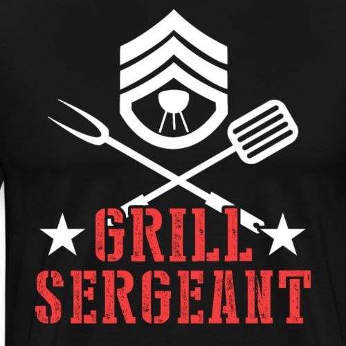 Grill Sergeant BBQ Grilling Father's Day - Männer Premium T-Shirt
