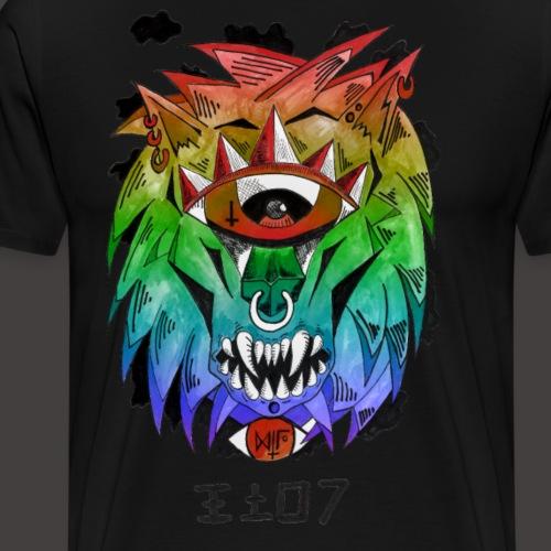 lion multi-color - T-shirt Premium Homme