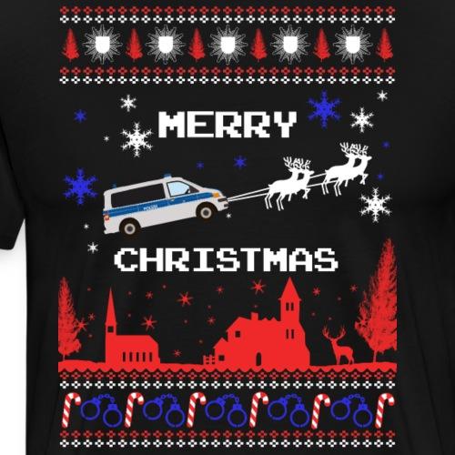 Bus Merry Christmas - Männer Premium T-Shirt