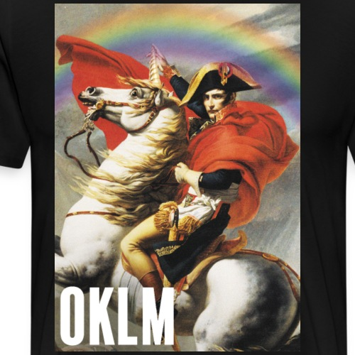 Napoléon et sa Licorne - T-shirt Premium Homme