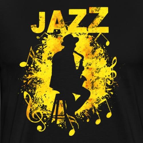 Jazz Saxophonist - Männer Premium T-Shirt
