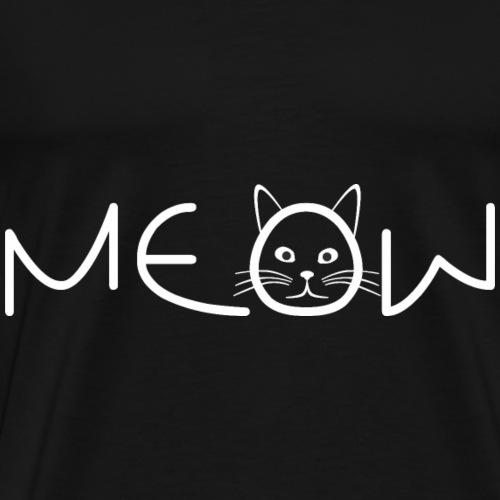 Meow Katze Cat Shirt Geschenkidee - Männer Premium T-Shirt