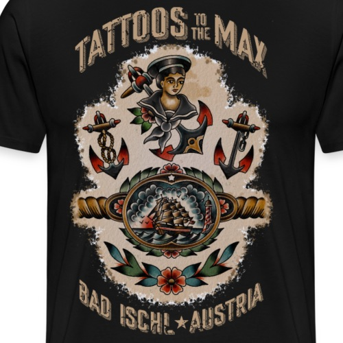 Waters Sailor Ship Matrose Tattoos to the Max - Männer Premium T-Shirt