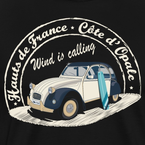 2CV - Wind is calling ( Le vent m'appelle!) - T-shirt Premium Homme