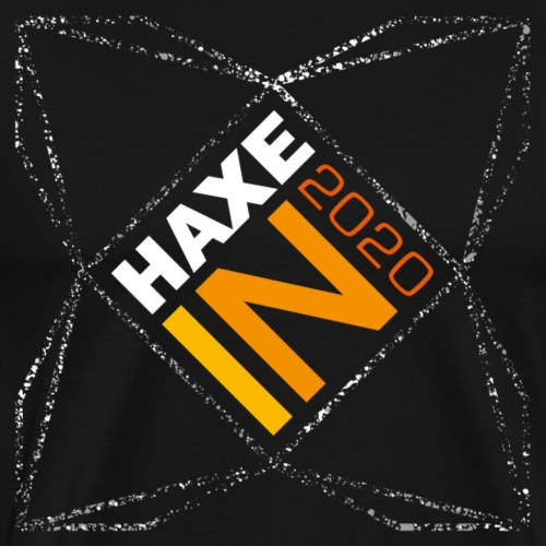 HaxeIN 2020 - Stars Frame Front + Collar Logo Back - T-shirt Premium Homme