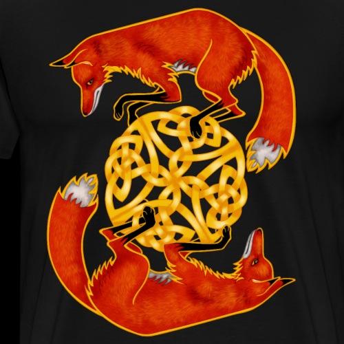 Circling Foxes - Men's Premium T-Shirt