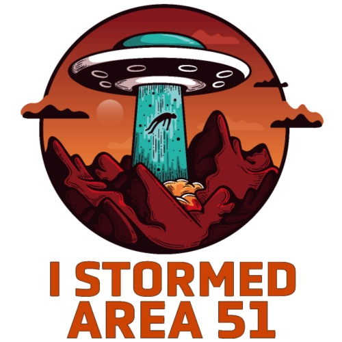 I STORMED AREA 51 (bright letter)