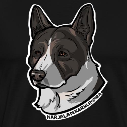 Karjalankarhukoira - Miesten premium t-paita