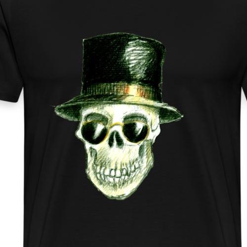 Schädel Hatter - Männer Premium T-Shirt