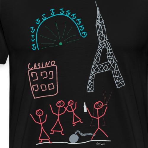 Junggesellinnen Abschied Strichmännchen Hochzeit - Männer Premium T-Shirt