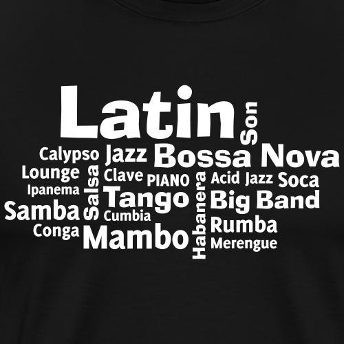 Latin tag cloud - Männer Premium T-Shirt