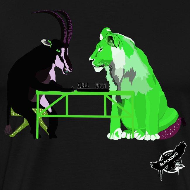 Playing Senet by BlackenedMoonArts, green w. logo