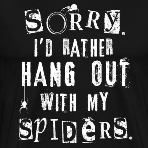 Sorry Spiders - Miesten premium t-paita