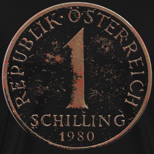 1980 Retro Schilling Österreich - Männer Premium T-Shirt