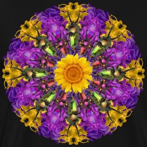 bright bugs mandala - Men's Premium T-Shirt