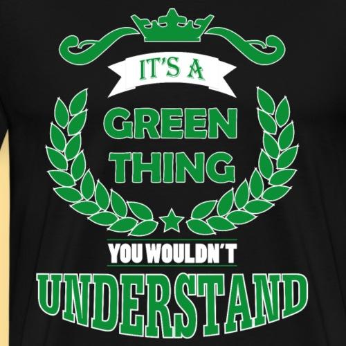its a green thing - Mannen Premium T-shirt