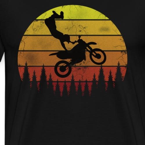 Motocross Motocross Freestyle - Vintage Retro - Männer Premium T-Shirt